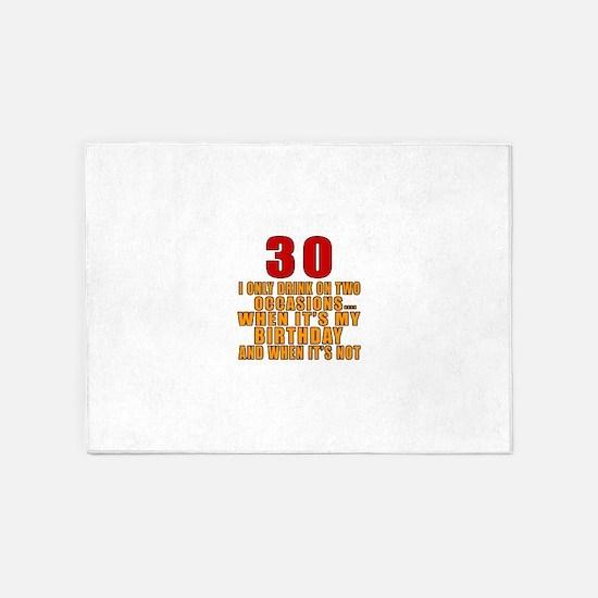 30 birthday Designs 5'x7'Area Rug