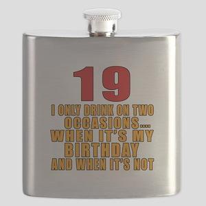 19 birthday Designs Flask