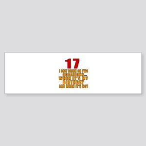 17 birthday Designs Sticker (Bumper)
