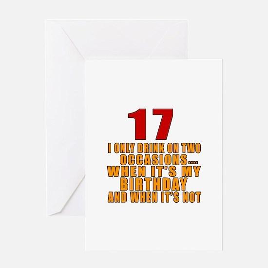 17 birthday Designs Greeting Card