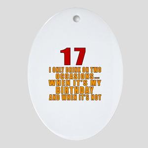 17 birthday Designs Oval Ornament