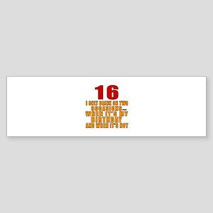 16 birthday Designs Sticker (Bumper)
