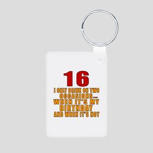 16 birthday Designs Aluminum Photo Keychain