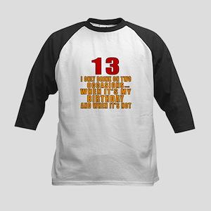 13 birthday Designs Kids Baseball Jersey