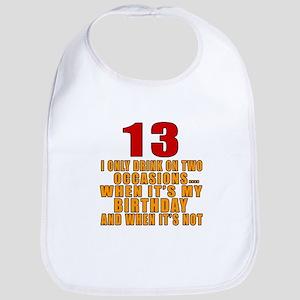 13 birthday Designs Bib
