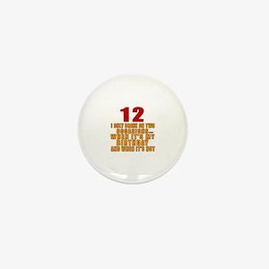 12 birthday Designs Mini Button
