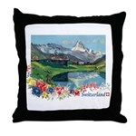 Swiss Beauty Throw Pillow