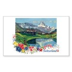 Swiss Beauty Rectangle Sticker