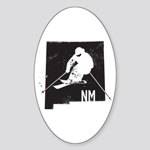 Ski New Mexico Sticker (Oval)