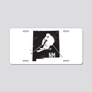 Ski New Mexico Aluminum License Plate