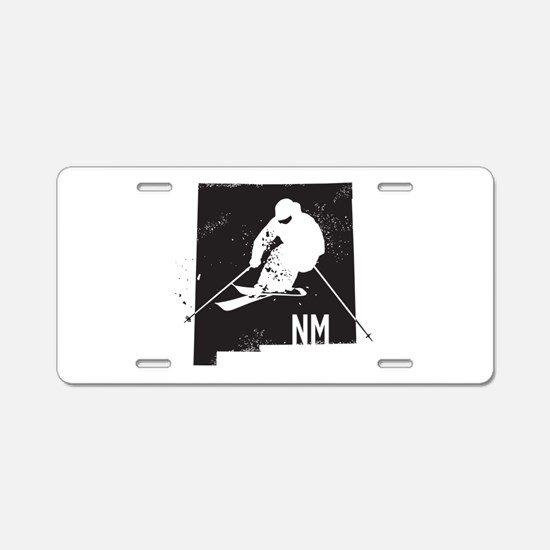 Ski New Mexico Aluminum License Plate