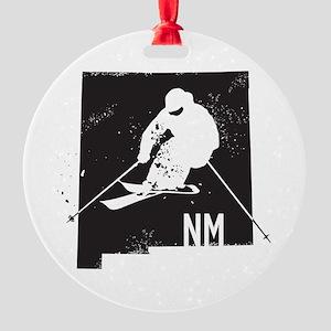 Ski New Mexico Round Ornament