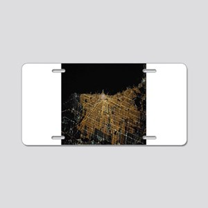 Chicago at Night from Space Aluminum License Plate