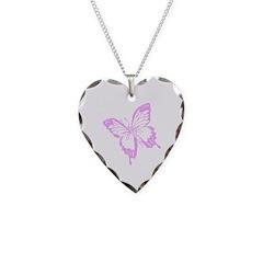 Purple Butterfly Jewellery Necklace