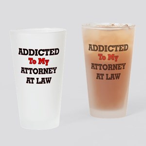 Addicted to my Attorney At Law Drinking Glass