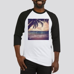 Tropical Beach Baseball Jersey