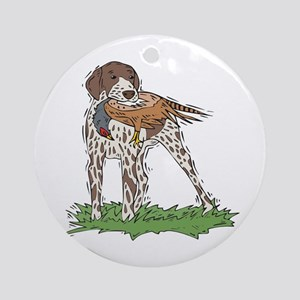 German Shorthaired Pointer Ornament (Round)