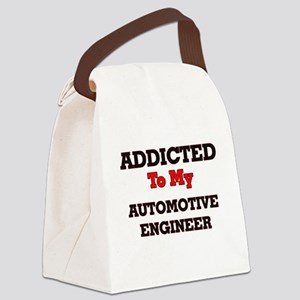 Addicted to my Automotive Enginee Canvas Lunch Bag