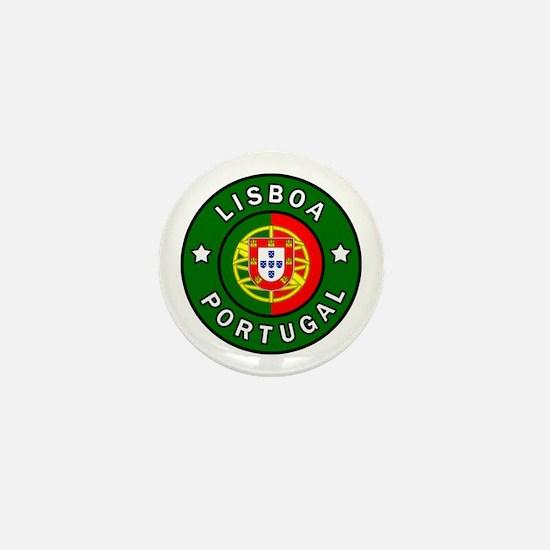 Cute Flag of portugal Mini Button