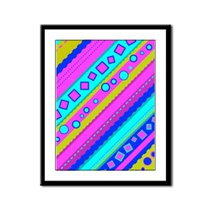 Diagonals Framed Panel Print
