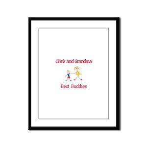 Chris & Grandma - Buddies Framed Panel Print