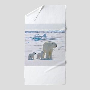 Polar Bears Beach Towel