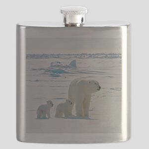 Polar Bears Flask
