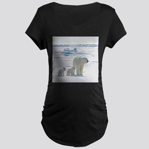 Polar Bears Maternity T-Shirt