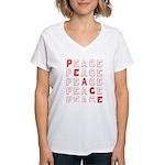 Pro-Peace  Women's V-Neck T-Shirt