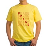 Pro-Peace  Yellow T-Shirt