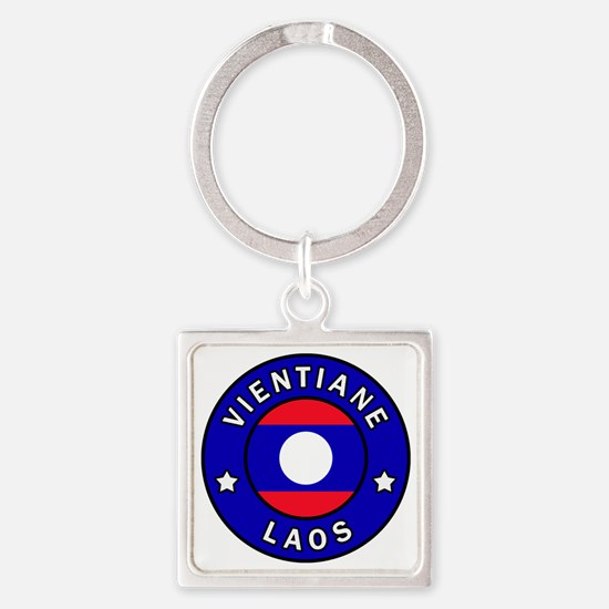 Unique Laos Square Keychain