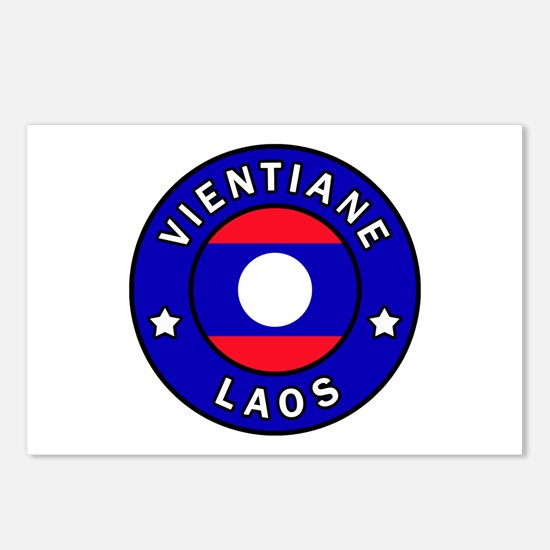 Vientiane Laos Postcards (Package of 8)