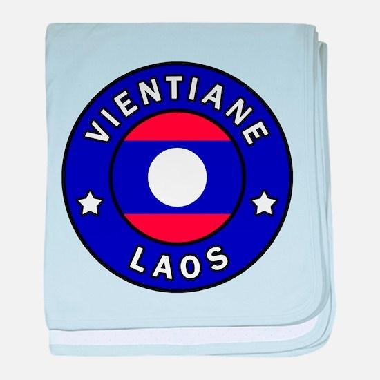 Vientiane Laos baby blanket