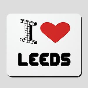 I Love Leeds City Mousepad