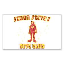 Scuba Steve's Dive Club Rectangle Sticker