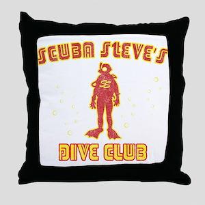 Scuba Steve's Dive Club Throw Pillow