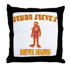 Scuba Steve's Dive Club Throw Pillow