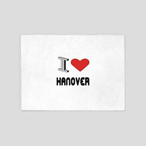 I Love Hanover City 5'x7'Area Rug