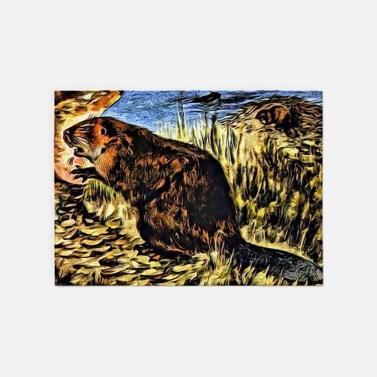 Beaver 5'x7'Area Rug