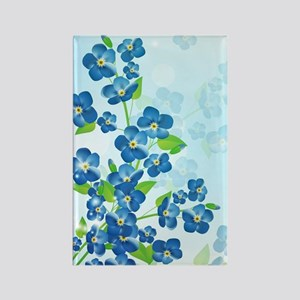 Forget Me Not Flowers Rectangle Magnet