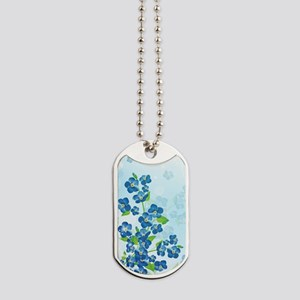 Forget Me Not Flowers Dog Tags