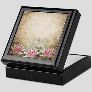 Pink Lotus Grunge Keepsake Box