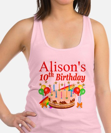 PERSONALIZED 10TH Racerback Tank Top