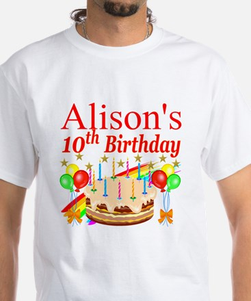 PERSONALIZED 10TH White T-Shirt