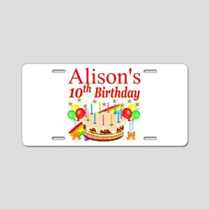 PERSONALIZED 10TH Aluminum License Plate