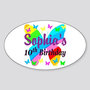 PERSONALIZED 10TH Sticker (Oval)