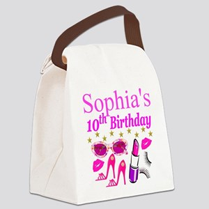 PERSONALIZED 10TH Canvas Lunch Bag