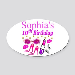 PERSONALIZED 10TH Oval Car Magnet