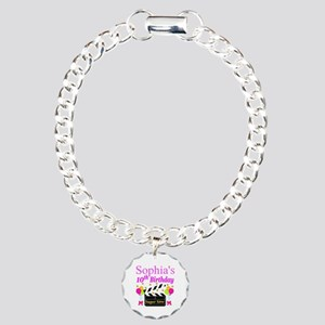 PERSONALIZED 10TH Charm Bracelet, One Charm
