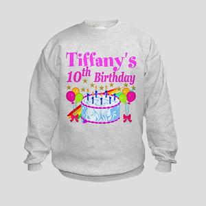 PERSONALIZED 10TH Kids Sweatshirt